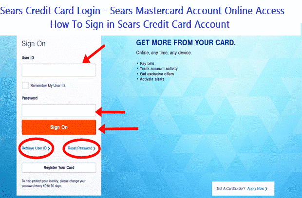 Sears Credit Card Login - Sears Mastercard Account Online Access